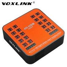 VOXLINK 40-Ports USB Chargeur Station 200 W 40A Rapide USB Charging Dock avec Écran lcd Pour Smartphone et Tablette Multi-dispositif Hub