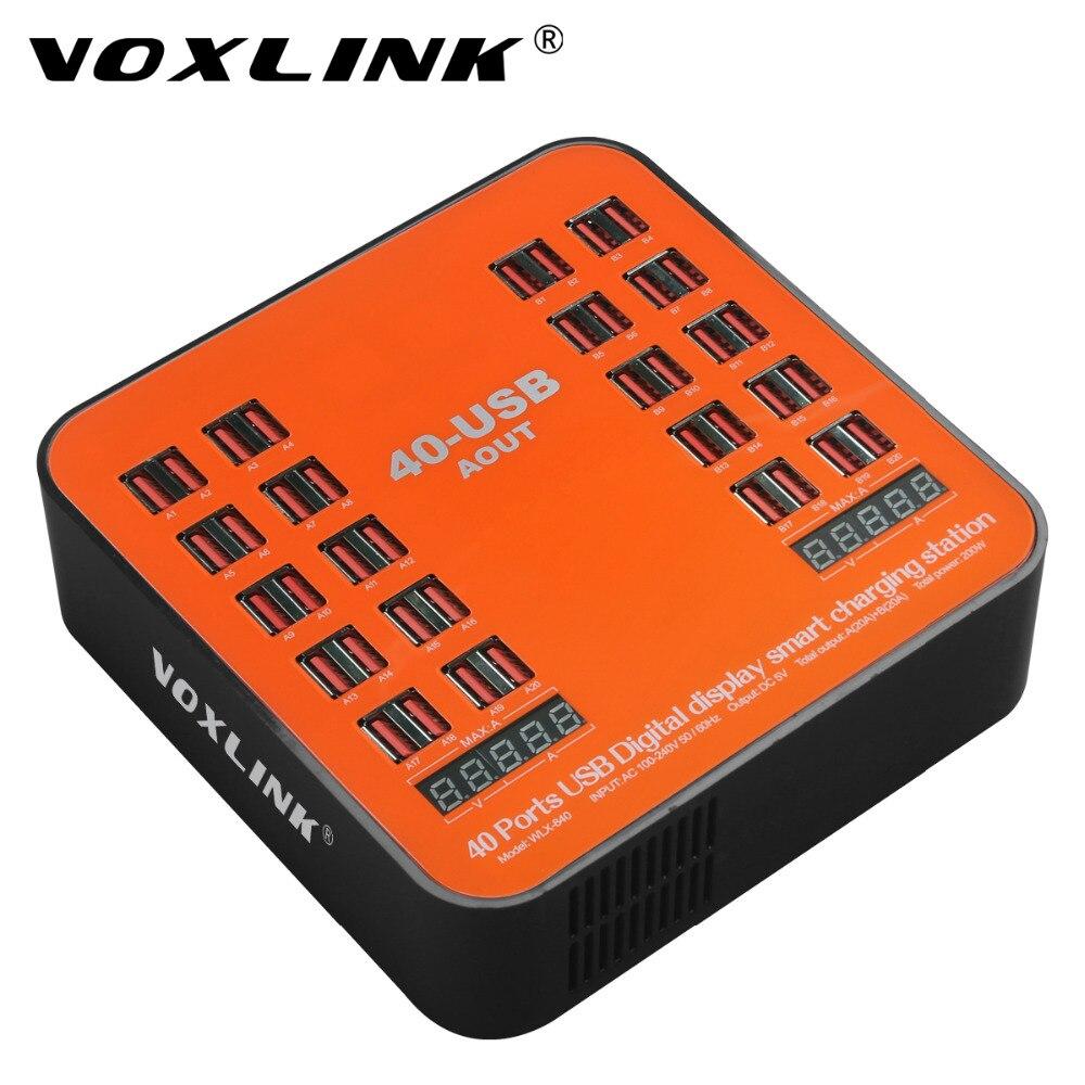 Voxlink 40-puertos USB cargador estación 200 W 40a rápido del USB con pantalla LCD para Smartphone y tablets multi-Hub dispositivo