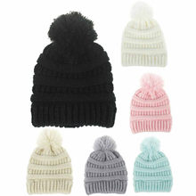 Baby Winter Hat Kids Girls Boys Solid Caps Cute Girls Hat Newborn Fashion Spring Cap Toddler Girl Warm Beanie Hats(China)