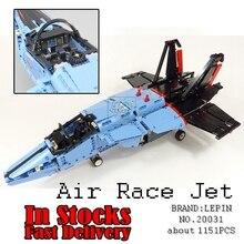 LEPIN 20031 1151 pcs Série Technique Le jet course avion Modèle Kits de Construction Blocs Briques Jouets pour enfants Compatible 42066