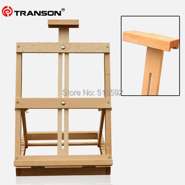 transon bon h tre en bois chevalet de table pour la peinture de l 39 artiste pliable mini bois. Black Bedroom Furniture Sets. Home Design Ideas