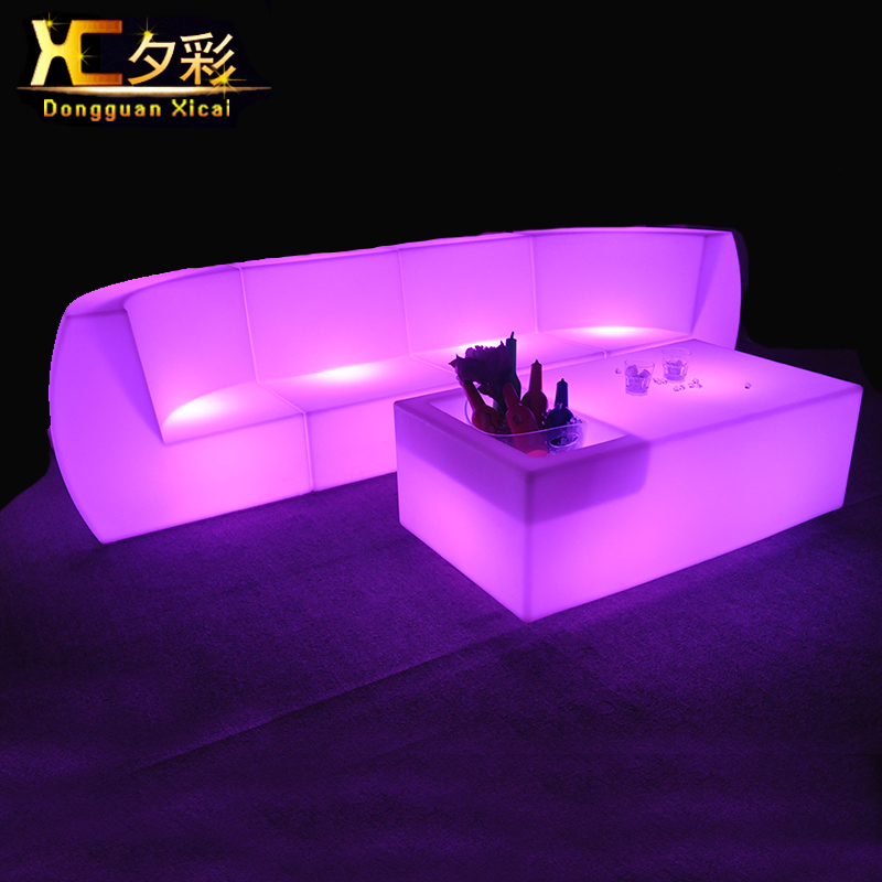 Aliexpress.com : Buy Led Living Room Furniture Luminous Bar Couch Color  Changing Sectional Sofa Plastic Club Drinking Stool Back Rest Chair From  Reliable ...