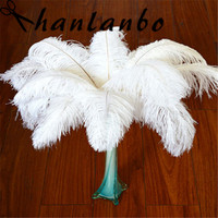 100pcs/lot 30 35 cm / 12 14 inches white ostrich feather plumages ostrich feather plumes wedding supplies decoration
