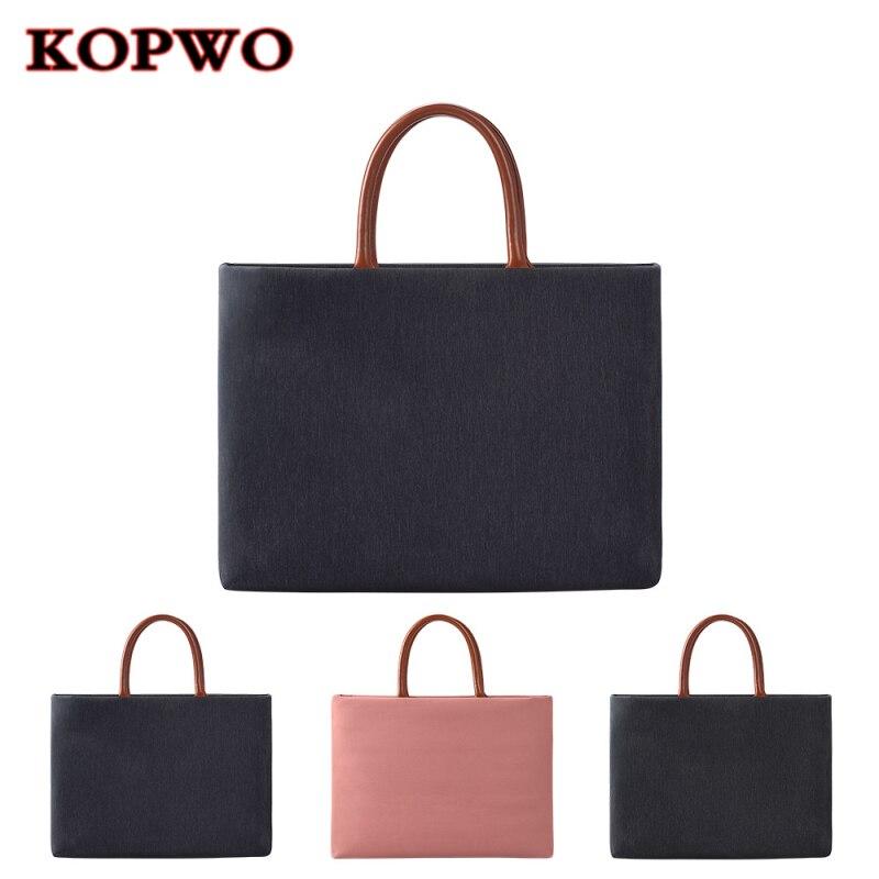 KOPWO Retro Laptop Handbag Waterproof Notebook Business Bag for font b Apple b font font b
