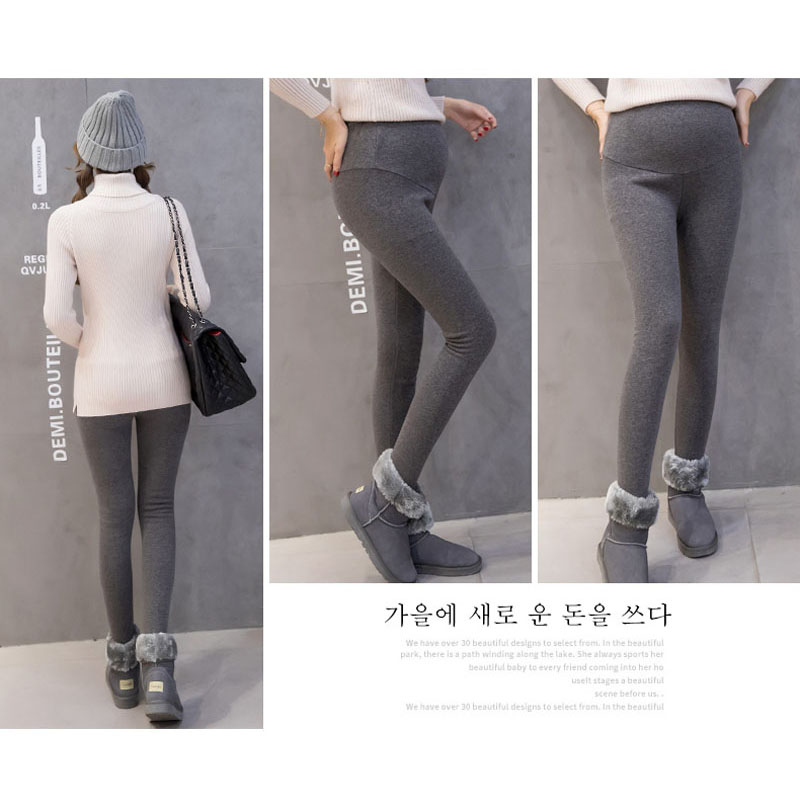 0f572cd4a9a84 Leggings For Pregnant Women High Waist Trousers Winter Velvet Pants  Maternity Clothes Thick Warm Pregnancy Leggings Maternity-in Leggings from  Mother & Kids ...