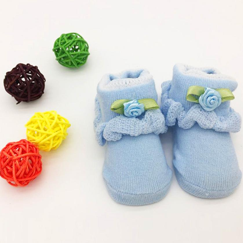 Baby Toddlers Flowers Combed Cotton Ankle Socks Girls Elasticity Thermal Socks
