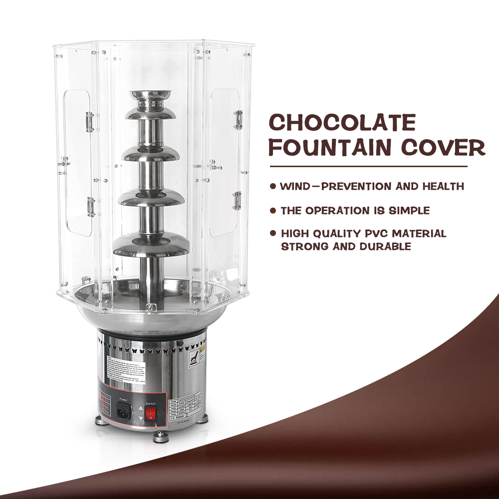 ITOP Commercial 4/5/6/7 Tiers Chocolate Fountains Cover, PVC Acryl Lids for Chocolate Melting Machine Chocolate Tools ITOP Commercial 4/5/6/7 Tiers Chocolate Fountains Cover, PVC Acryl Lids for Chocolate Melting Machine Chocolate Tools