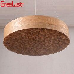 2017 azja południowo-wschodnia circinate drewno okrągłe żyrandol/dia60cm większy rozmiar bar etap salon koło led lampa wisząca 85 V-260 V