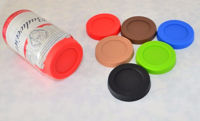 (4 pz/lotto) Food grade Silicone coperchi per lattine di coca-cola e beer can, coperchi per pop lattine Eco-Friendly, antipolvere coperchi per SODA can