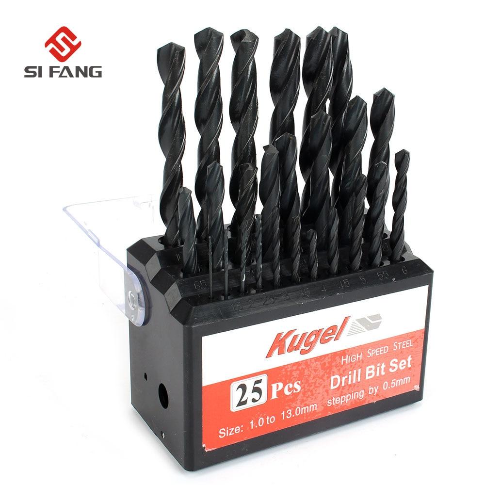 Livraison Gratuite 25 pcs kit HSS Foret Bits Set Métal Forets Cobalt Foret Pour acier Inoxydable