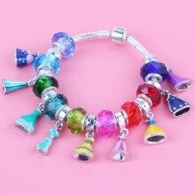 3c1cdc3fa94c Couqcy nuevo Original moda encanto princesa vestido colgante DIY para la  joyería de las mujeres pulsera Accesorios