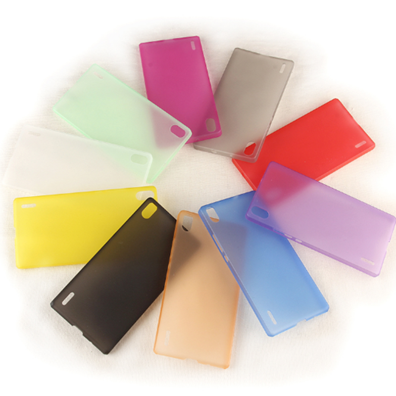 0.3Mm Ultra Thin Matte Clear Slim Case Hood Skin Transparent Cover For Huawei Ascend P7 10Colors