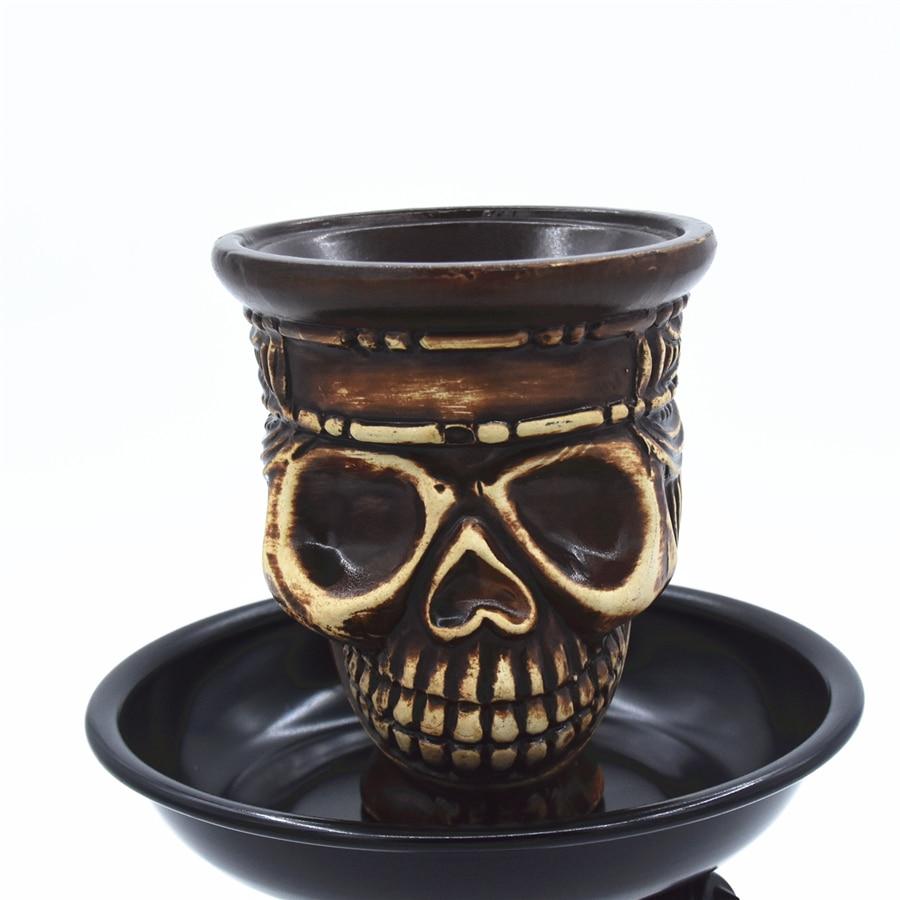 Ceramic Shisha Hookah Bowl Holder Skull Shisha Tobacco Hookah Head Chicha Narguile Cachimba Sheesha
