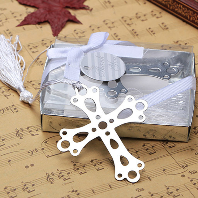 50pcs cross bookmarks for baptism birthday first communion party