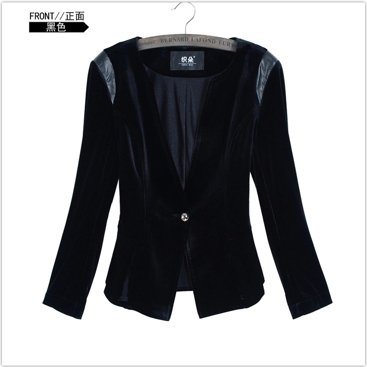 Popular Black Velvet Blazer Women-Buy Cheap Black Velvet Blazer ...