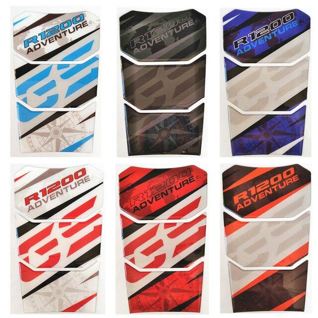 10 color 1 unids envío gratis de carbono para BMW R1200GS R 1200 GS R1200 GS de fibra de tanque Tankpad Protector etiqueta engomada