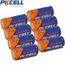 8pcs/lot PKCELL Battery 910A LR1 SIZE 4001 810 910A AM5 KN Lady LR1 MN9100 UM 5 1.5V For bluetooth headsets, glucose