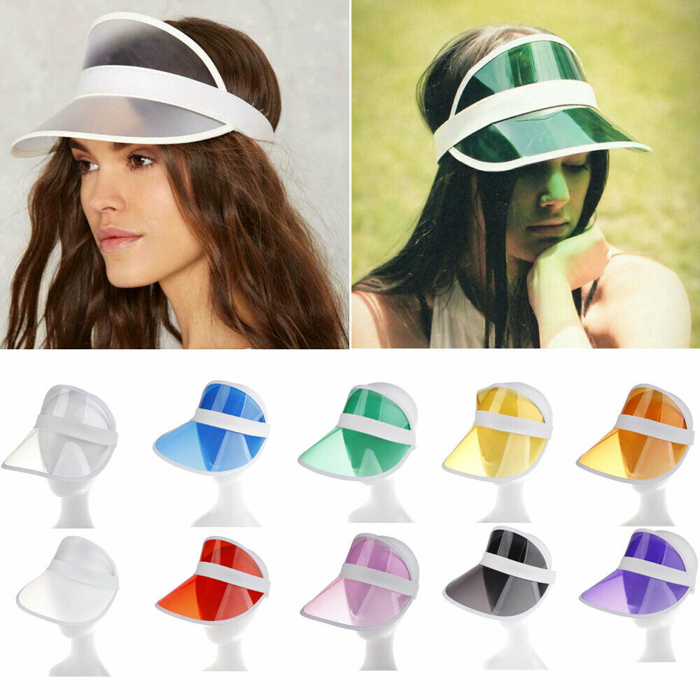Brand New 2019 1Pc Summer Casual Men Women Fashion Neon Hat Sun Visor Golf Sport Tennis