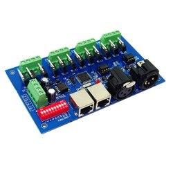 Najlepsza cena 1 sztuk 12 kanałów Max 3A 4 grupy z (XLR RJ45) dmx512 dekoder kontroler używać do taśmy led światła