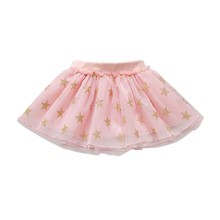 все цены на Lovely Baby Girls Tutu Skirts Summer Star Print Mesh Princess Girls Mini Ballet Dancing Skirt Ball Gown for Baby Girls онлайн
