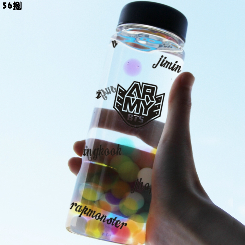 1pc Outdoor Sports Bottle BTS Bangtan Boys Water Bottle Kpop JUNGKOOK JIMIN JIN V SUGA JHOPE IN BLOOM LTT9400