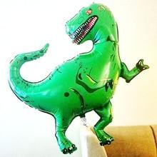 1 шт. гигантский динозавр Подарок Алюминиевой Фольги игрушки вечерние шляпа тираннозавр зеленый Рекс игрушки шарики для день рождения вечерние для детей плавающие игрушки
