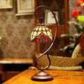 Cor de vidro em estilo europeu rural quarto cabeça vermelha Festival quente e romântico presente de casamento candeeiro de mesa decorativo LO7188