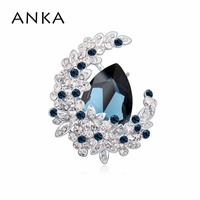 ANKA Hot Sale Brooches Jewelry New Fashion Cute Flower Brooch Pin Jewelry Women Main Stone Crystals from Swarovski #112830