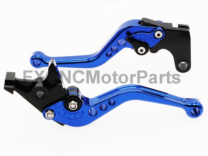 Short Regular CNC Brake Clutch Levers For Honda GROM CBR250R CBR300R/CB300F/FA CBR500R/CB500F/CB500X Blue billet new alu long folding adjustable brake clutch levers for honda cbr250r cbr 250 r 11 13 cbr300r 14 cbr500r cb500f x 13 14