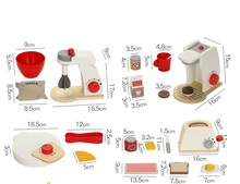 Wooden Kitchen Pretend Play Toys Appliance For Kids