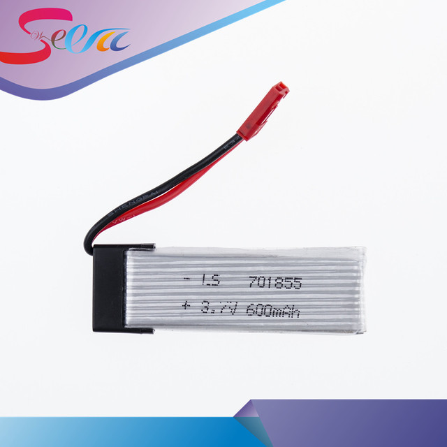 Wholesale 50PCS 3.7v 600mah Li-po battery JST UDI rc u817 u817a u817c u818a syma s032 quadcopter spare parts WLtoys V929