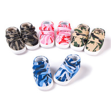 Baby Canvas Toddler Shoes Camouflage Boy Girl Soft Bottom Waterproof Infant Shoes 0-18M