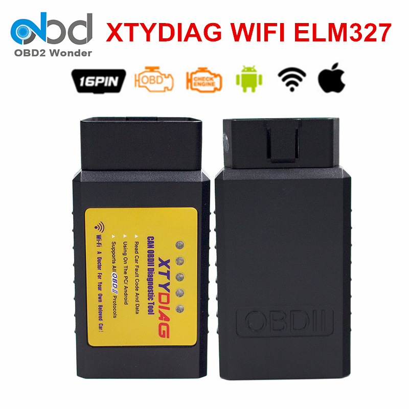 Prix pour Nouvellement XTYDIAG ELM327 WIFI OBDII Interface ELM 327 WI FI V1.5 PIC18F25K80 Puce De Voiture De Diagnostic Scanner Support Tous OBD2 Protocoles