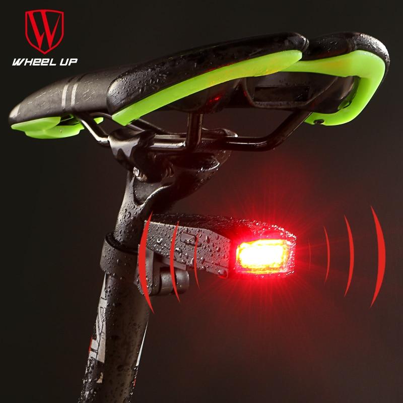 Wheel Up New Design Alarm Bike Tail Light Intelligent Wireless COB Lamp Beads Mountain Road SOS