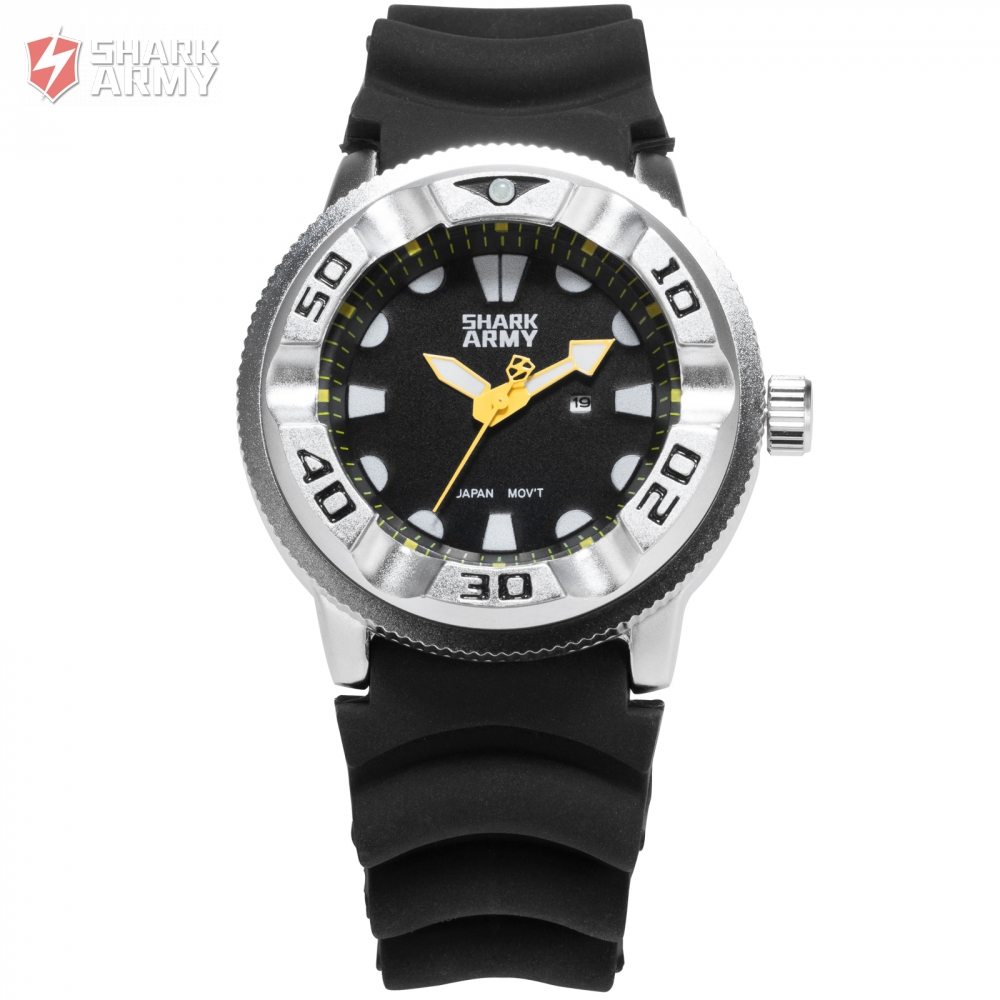 Shark Army Full Steel Electroplate Case Top Brand Luxury Montre Homme Sport Silicone Band Men Quartz Military Watch Gift/SAW104 greenland shark sport watch brand