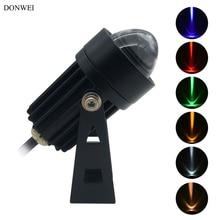 DONWEI 3 Вт COB Светодиодный точечный светильник наружный 85-265 в стиль водонепроницаемый IP65 Алюминиевый настенный светильник проектор для парка зданий квадратный
