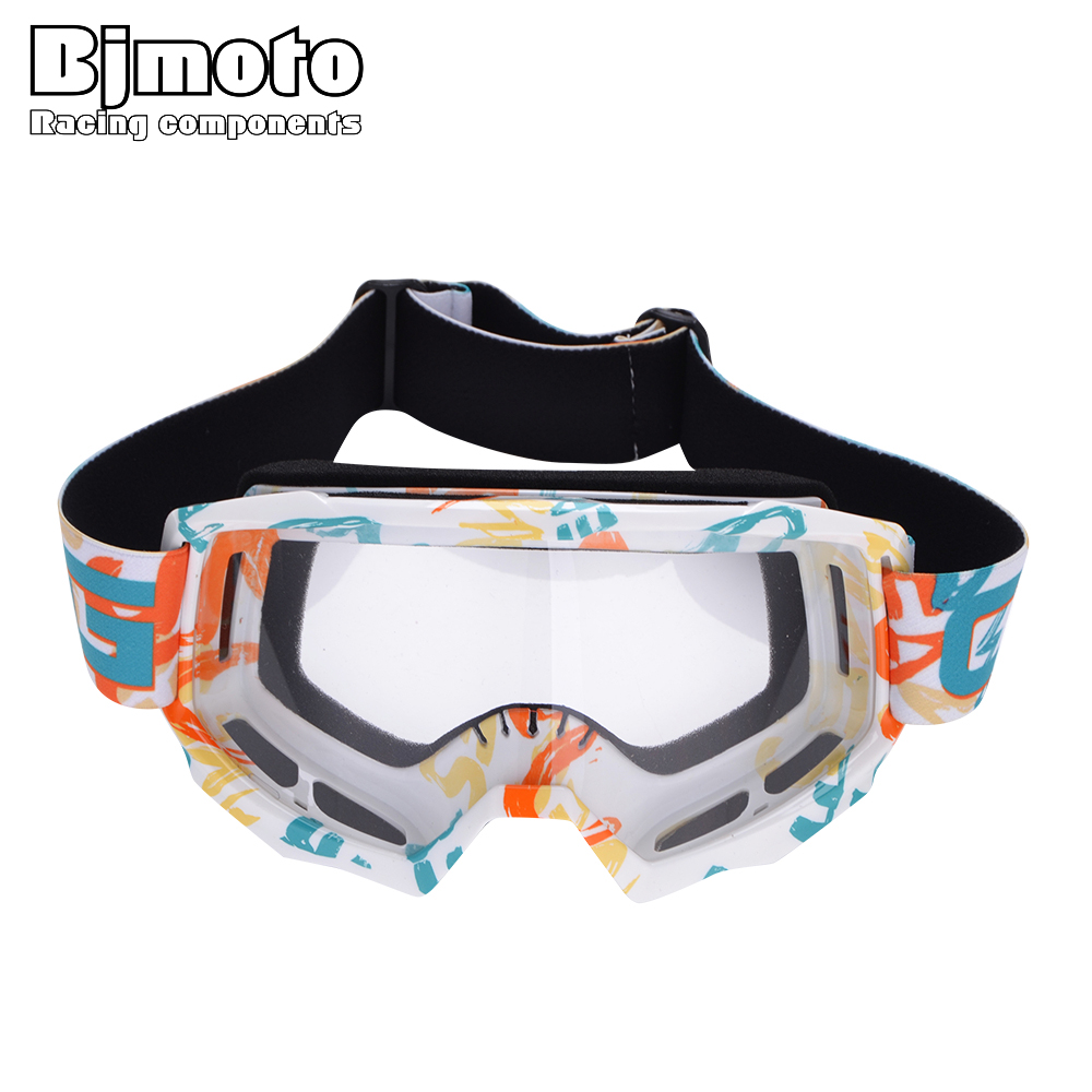 BJMOTO 2018 Motorcycle Goggles Windproof Motocross Goggle Motorbikes ATV Dirt Bike Cycling Dustproof Ski Glasses