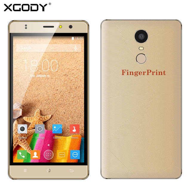 XGODY Smartphone 5.5'' Android 6.0 RAM 1GB+ROM 8GB Quad Core With 8MP Camera M20 3G GPS Cheap Fingerprint Mobile Phone