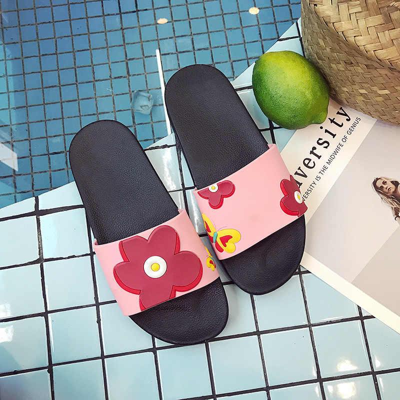Mulheres Chinelos Anti-slip Home Indoor Chinelos de Abelha Adorável Ladies Casual Ao Ar Livre Praia Flip Flops Verão Slides