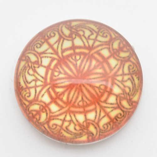 Botones a presión de 18mm, impresión redonda y cubierta de vidrio broches para pulseras de broches de presión Ajuste de jengibre broches joyería NC1714
