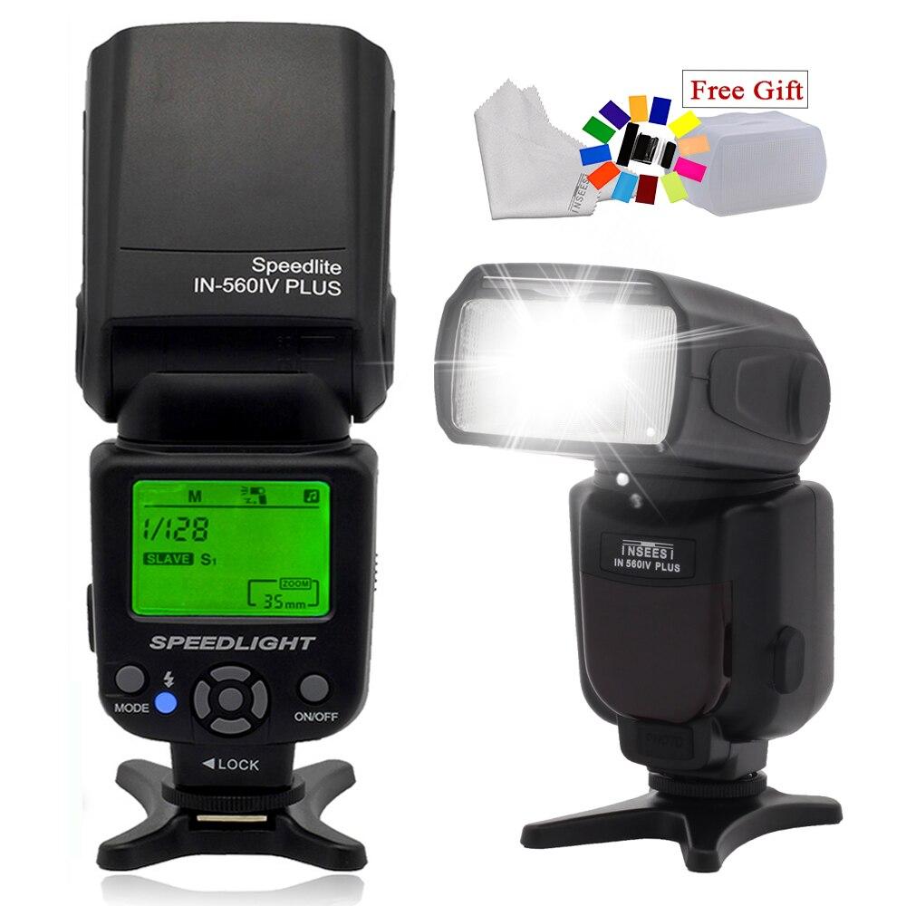 Universele INSEESI IN-560IV PLUS de pantalla LCD Flash Speedlite para Canon Nikon Pentax DSLR cámaras 6D 5D 7D D3200 D5200 del JY-680A