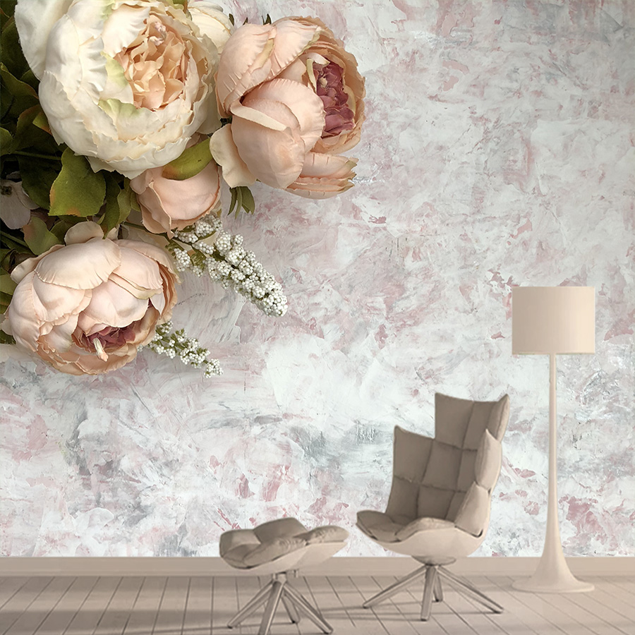 Wallpapers 3d Photo Wallpaper Nature Mural Rose Marble Wallpapers For Living Room Bedroom Retro TV Background Papel De Parede