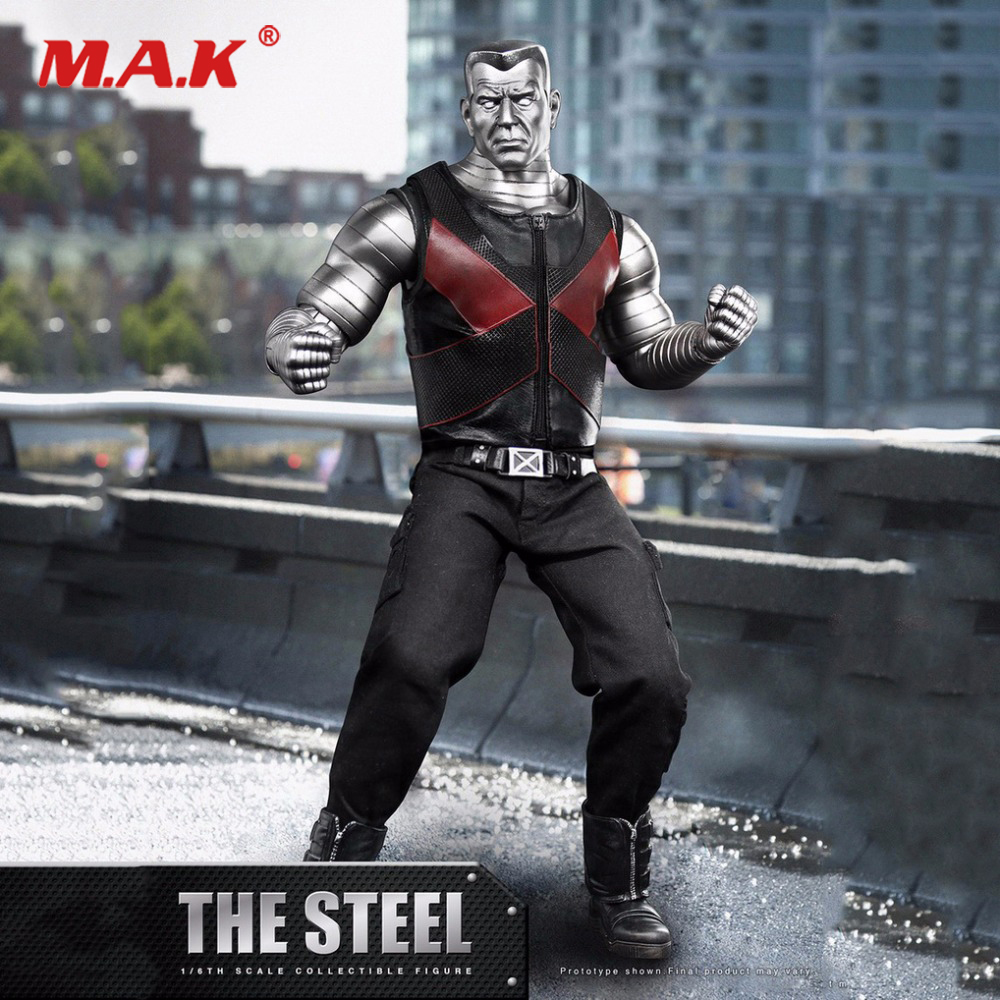 1/6 X-man The Mutants Peter Rasputin Colossus Action Figure The Steel Deadpool Collectible Models ht hottoys superman1 6 man of steel jor el model 12inch action figure doll the finished product