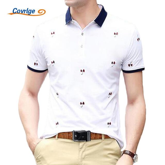 9510df7e0bf44 Covrlge Camisa Polo Homens 2017 Verão Moda Masculina de Manga Curta Casuais  Polo Camisas Dos Homens