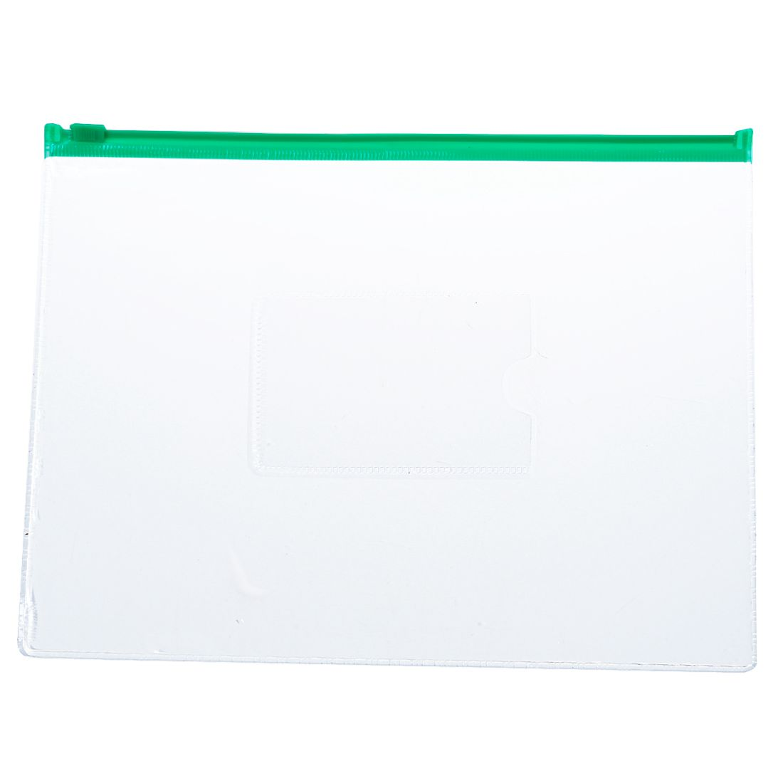 20 Pcs Green Clear Size A5 Paper Slider Ziplock Closure Folders Files Bags