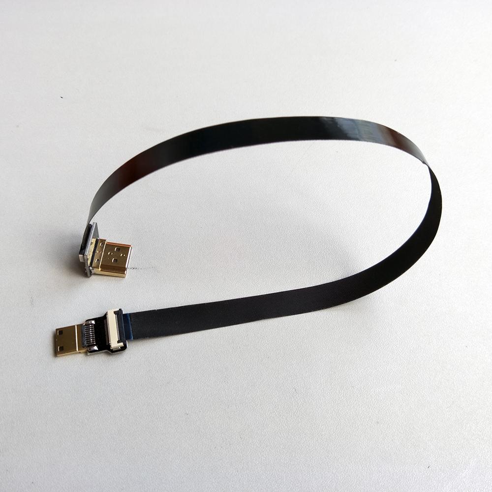 5/10/15/20/30 см ультра тонкий HDMI кабель тип кабеля до угол 90 градусов мужской штекер тип с мини прямо плоский кабель