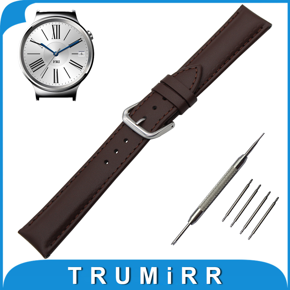 Genuine Leather Watch Band 18mm for Huawei Watch / Fit Honor S1 Stainless Buckle Strap Wrist Belt Bracelet Black Brown + Tool умный браслет huawei honor band 3 black 55022154