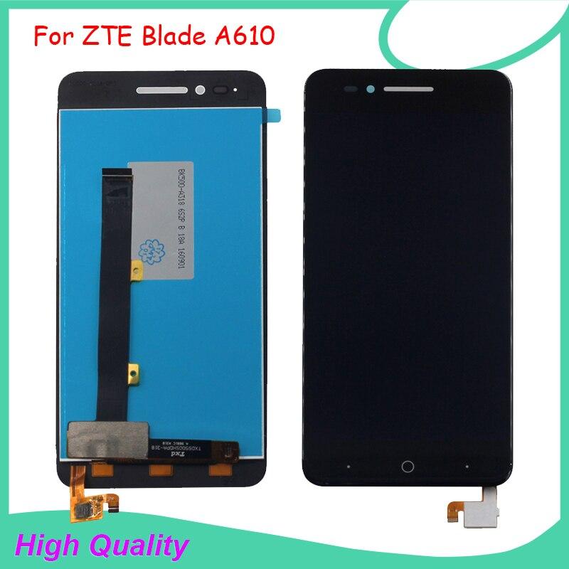 Per ZTE Blade A610 Display LCD Touch Screen Digitizer Assembly per ZTE Voyage 4 Lama A610C BA610 Schermo LCD di Trasporto strumenti
