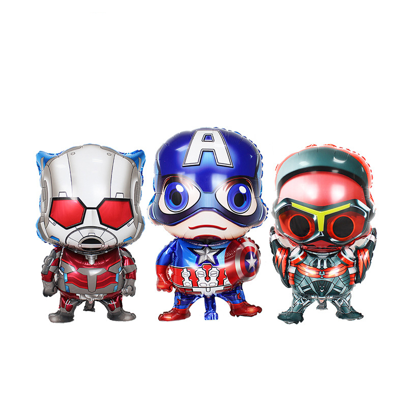 Home & Garden Ballons & Accessories 1pcs/lot Super Hero Alliance Captain America Iron Man Falcon Foil Balloon Toy Party Decoration Balloon