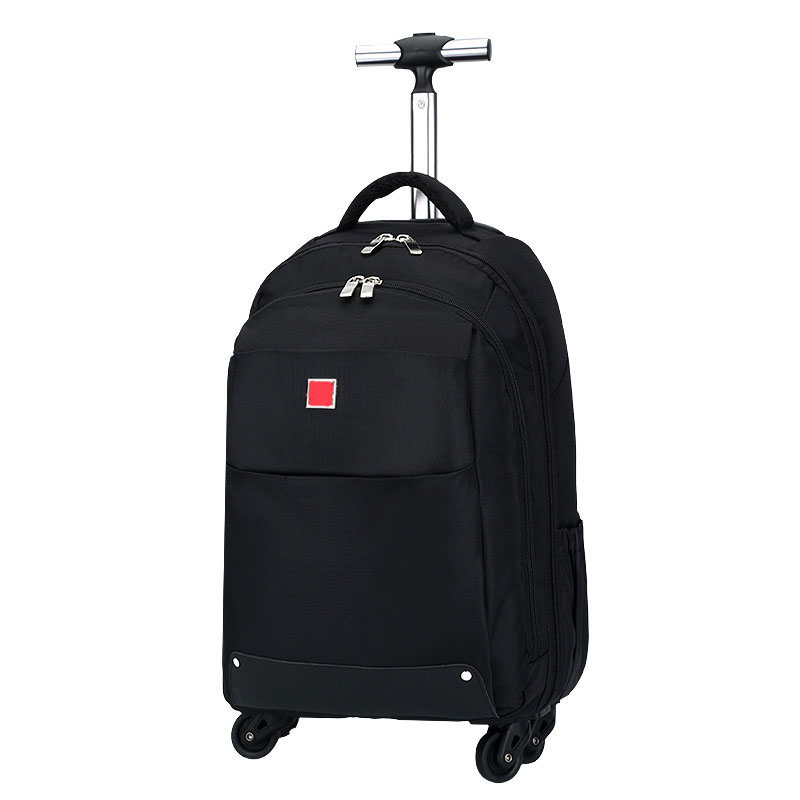 BeaSumore Shoulder Travel bag Rolling Luggage Spinner 18 inch Black Oxford Computer Trolley Case Men Cabin Suitcase WheelsBeaSumore Shoulder Travel bag Rolling Luggage Spinner 18 inch Black Oxford Computer Trolley Case Men Cabin Suitcase Wheels